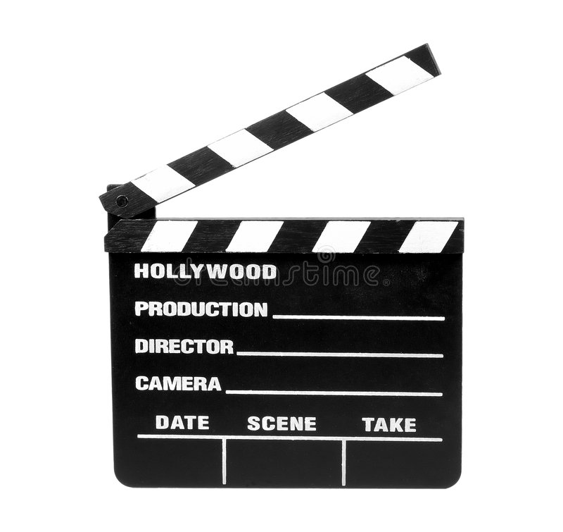 Movie Slate - Clipping Path Royalty Free Stock Photography