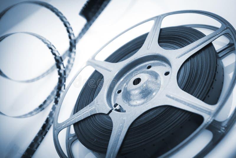 Movie spool with film stock image