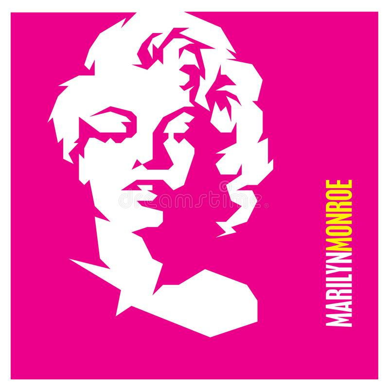 Movie star Marilyn Monroe royalty free illustration