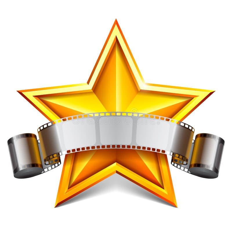 Movie star. vector illustration