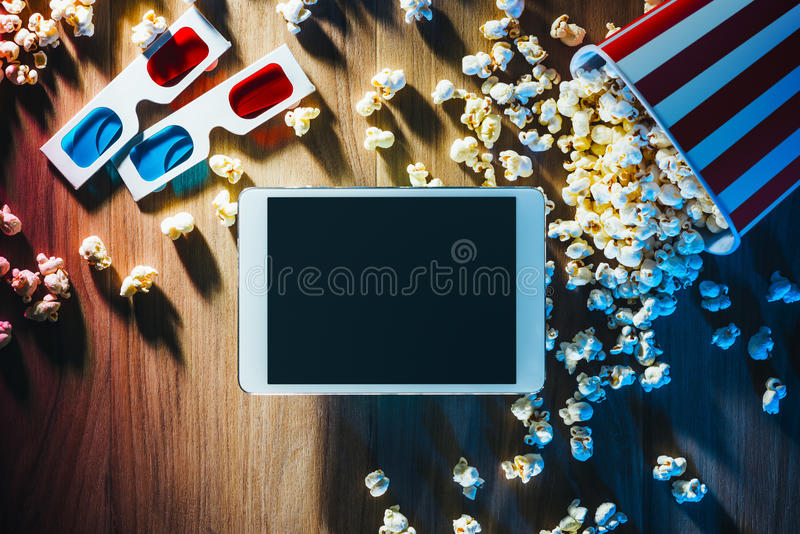 Movie streaming app stock images