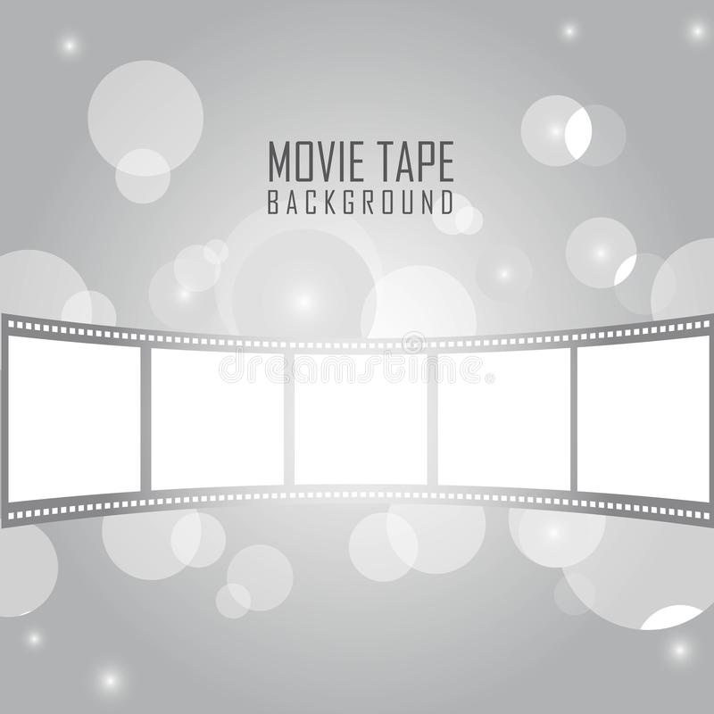 Movie tape vector illustration