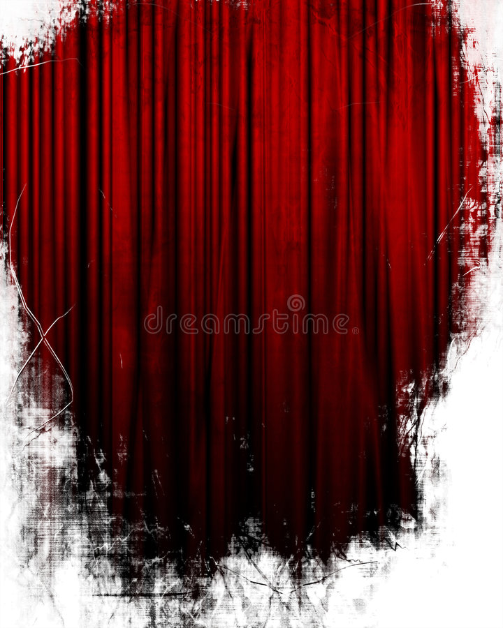 Movie or theater curtain royalty free illustration