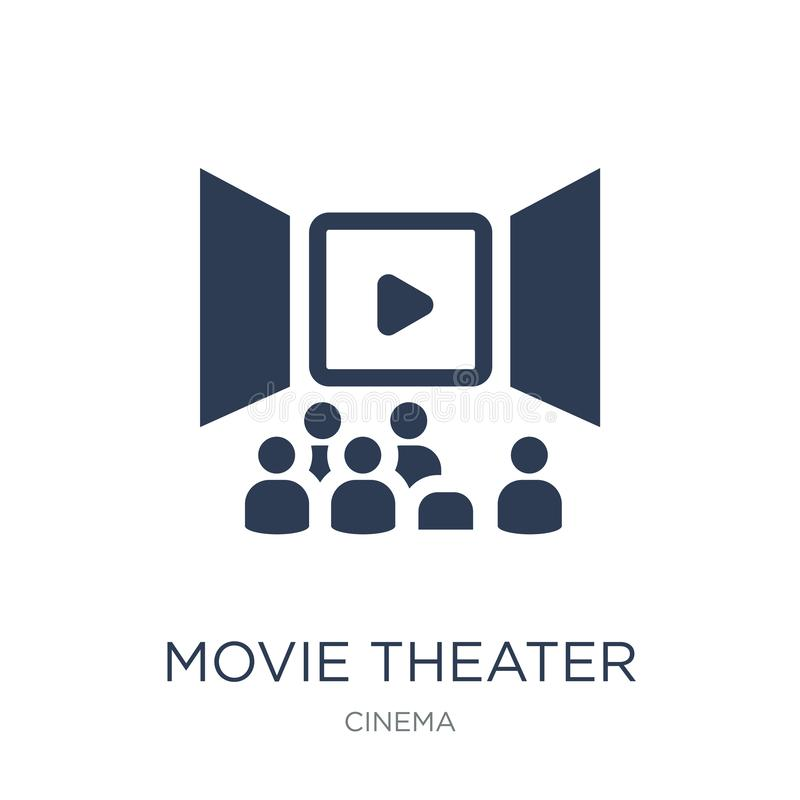 Movie Theater icon. Trendy flat vector Movie Theater icon on white background from Cinema collection. Vector illustration can be use for web and mobile, eps10 stock illustration