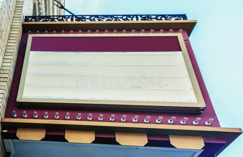Movie Theater Sign stock photos