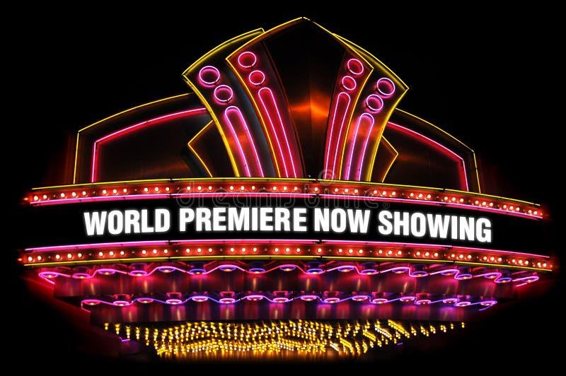 Movie theatre marquee stock illustration