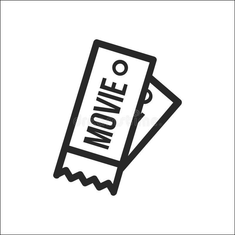 Movie ticets icon stock illustration
