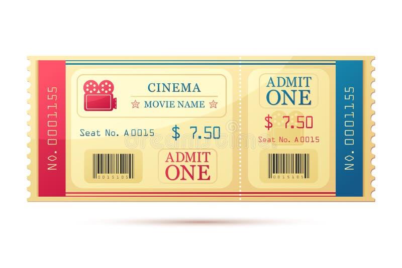 Movie Ticket vector illustration