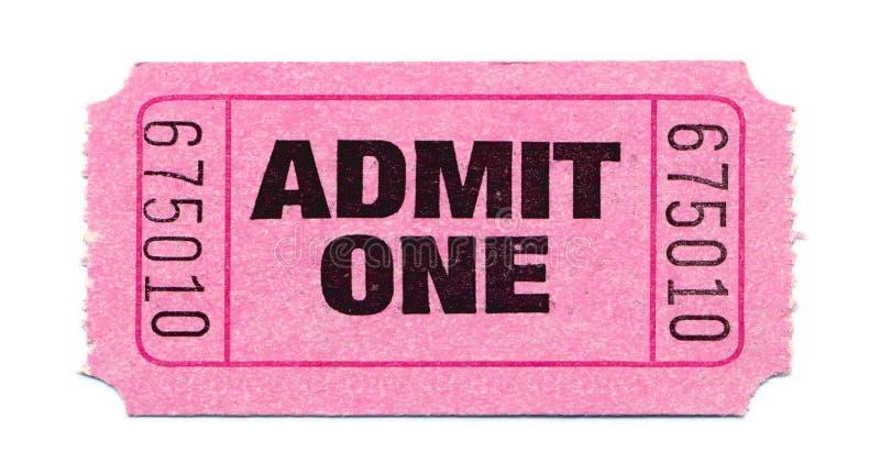 Movie-Ticket stock photo