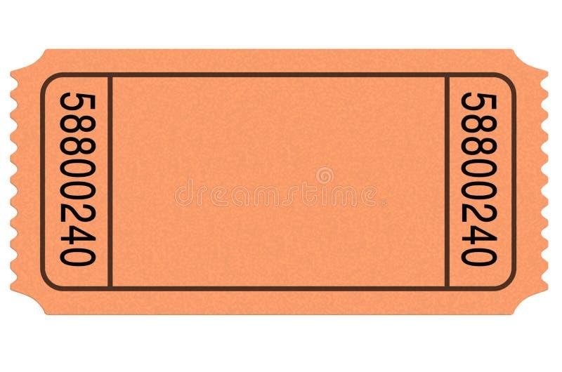 Movie Ticket Blank Stock Illustration Illustration Of