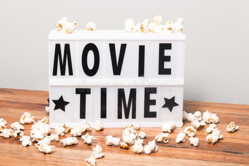 Movie time lightbox stock photos