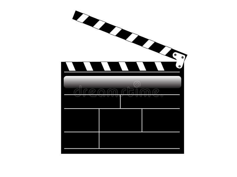 Movie video clapper. Vector illustration of Movie video clapper vector illustration