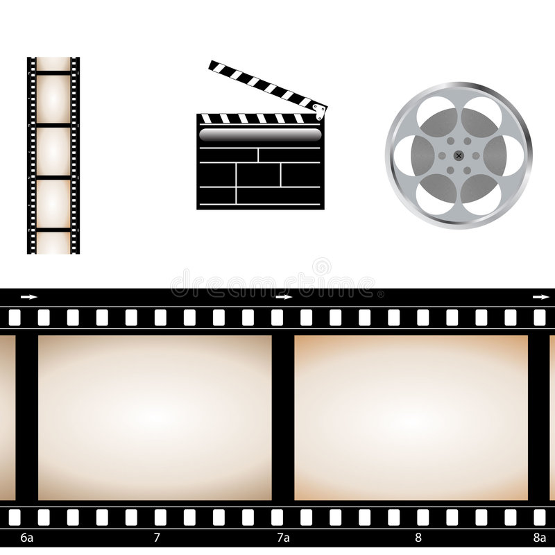 Movie video set. Vector illustration of Movie video set vector illustration