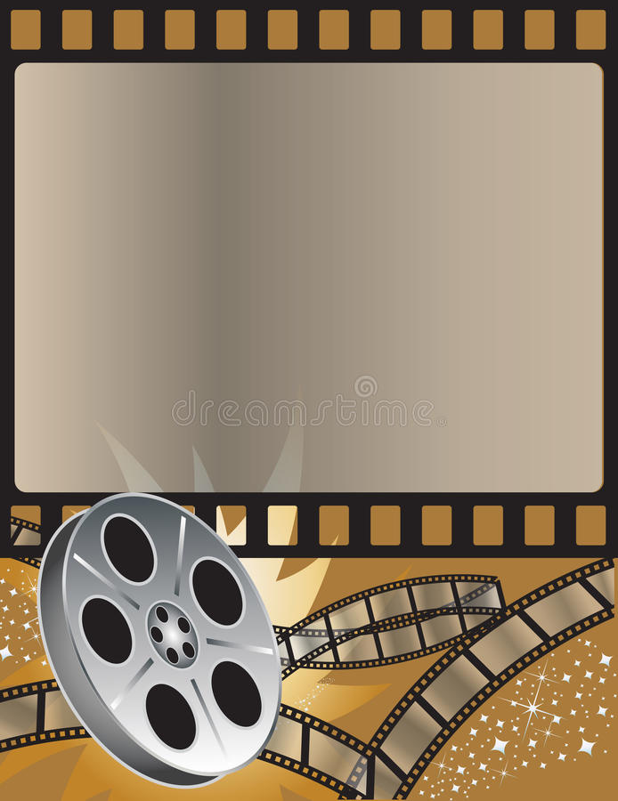 Movies royalty free illustration