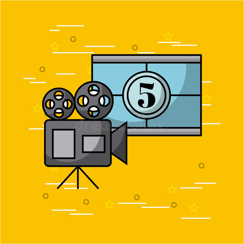 Movies and cinema concept. Vector icon illustration design graphic royalty free illustration