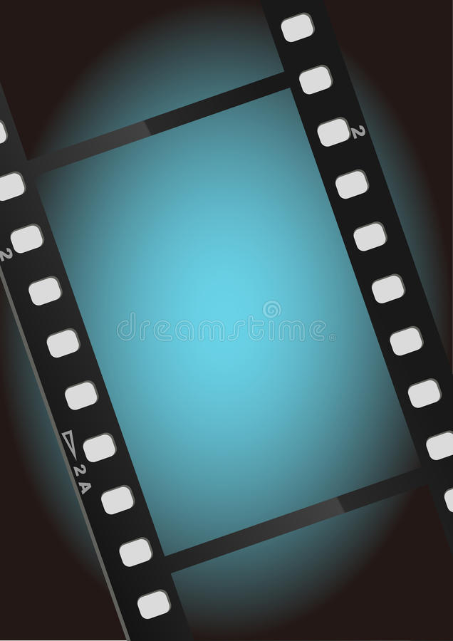 Movies film blue light background stock photography