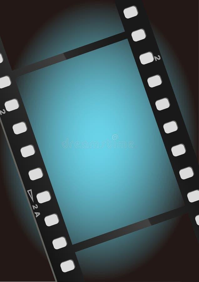 Movies film blue light background stock illustration