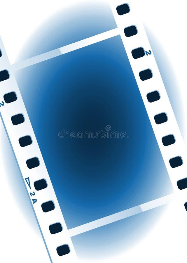 Movies film blue light background royalty free stock photos