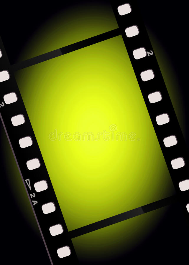 Movies film light background stock illustration
