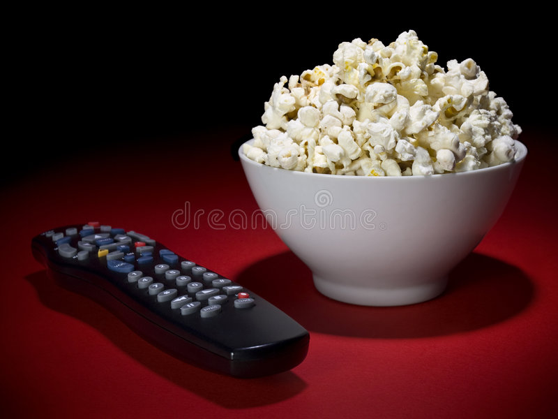 Movies at home stock photography
