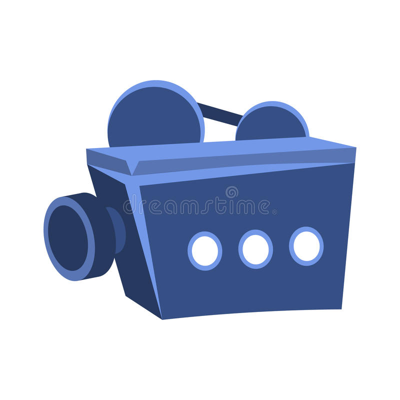 Movies Projector For Projecting On Screen, Cinema And Movie Theatre Related Object Cartoon Colorful Vector Illustration. Isolated Object Cinematography vector illustration