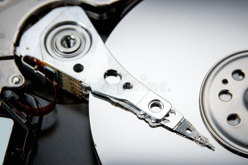 Movimentação aberta do disco rígido O conceito do armazenamento de dados disposição de dados imagem de stock