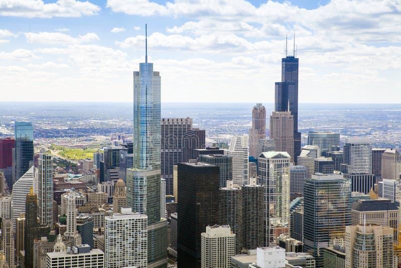 Movimentação da costa do lago chicago imagem de stock