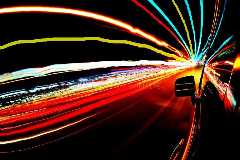 Movimentação da noite foto de stock