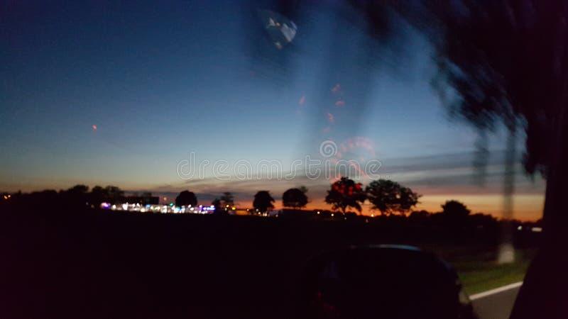 Movimentação da noite imagens de stock royalty free