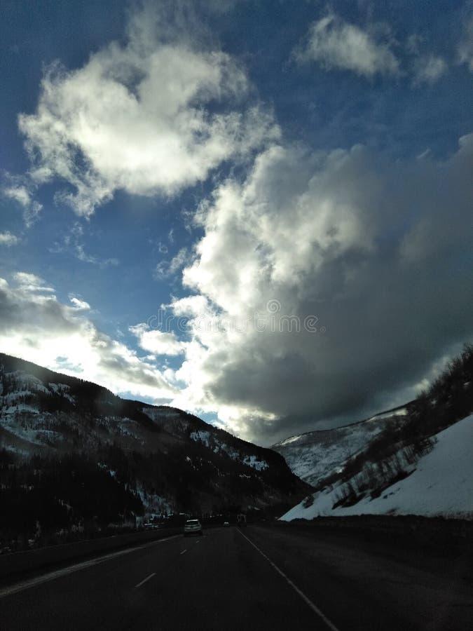 Movimentação de cobre da montanha fotos de stock royalty free
