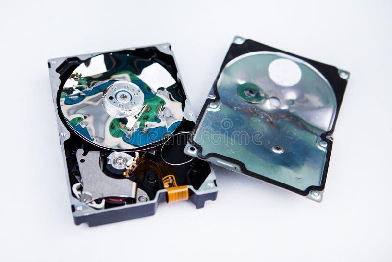 Movimentação de disco rígido esmagada imagem de stock