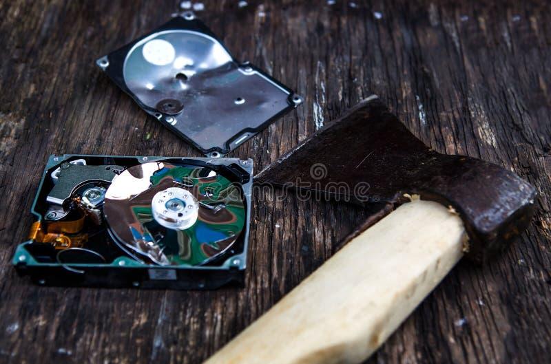 Movimentação de disco rígido esmagada imagens de stock royalty free