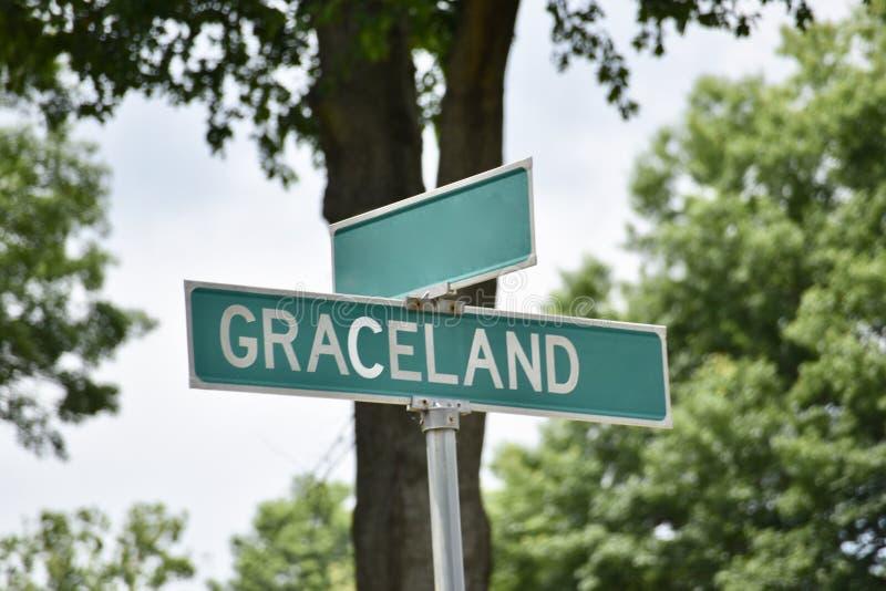 Movimentação de Graceland, Memphis, TN foto de stock