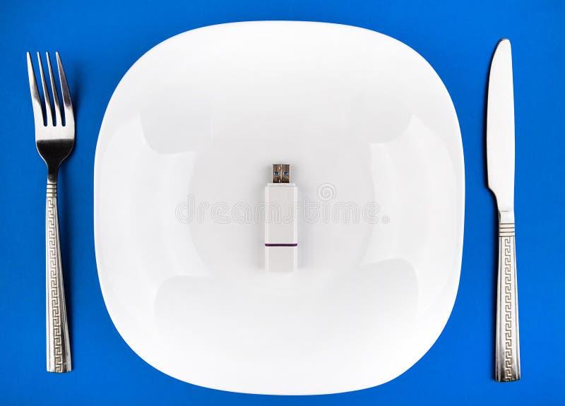 Movimentação de USB na placa imagem de stock royalty free