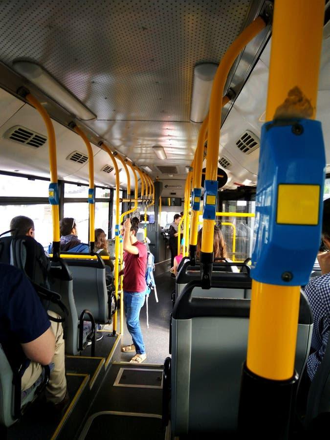 Movimentação do ônibus imagem de stock