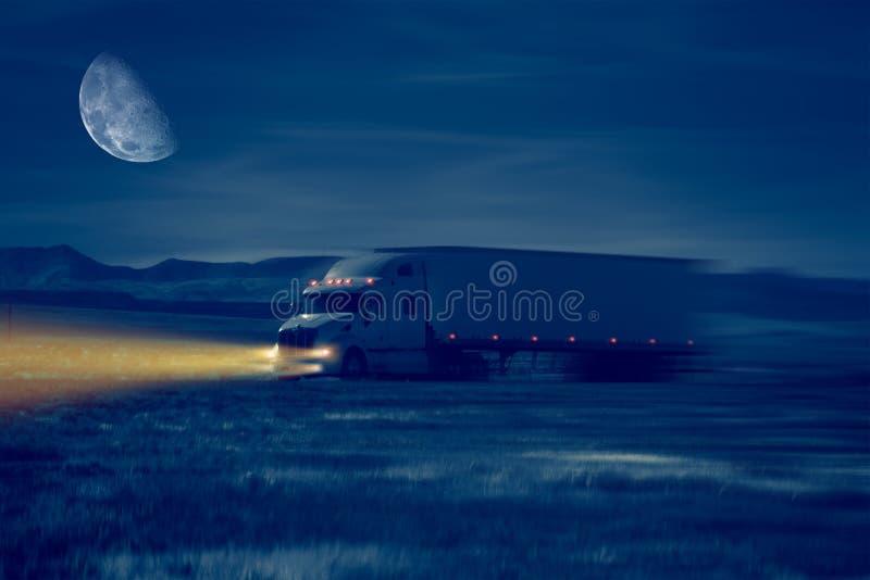 Movimentação do caminhão da noite ilustração royalty free