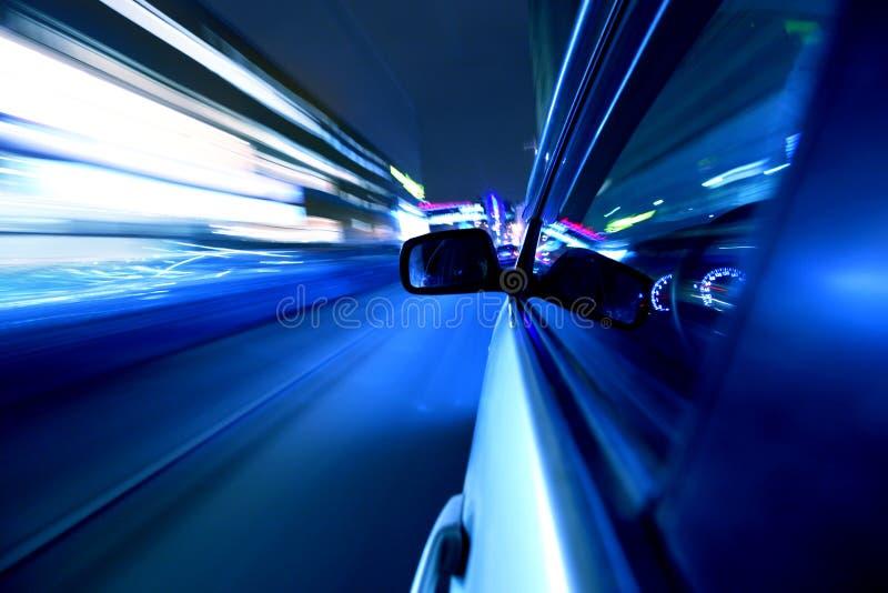 Movimentação do carro da noite fotografia de stock royalty free