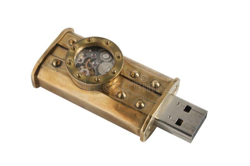 Movimentação do flash de Steampunk USB foto de stock