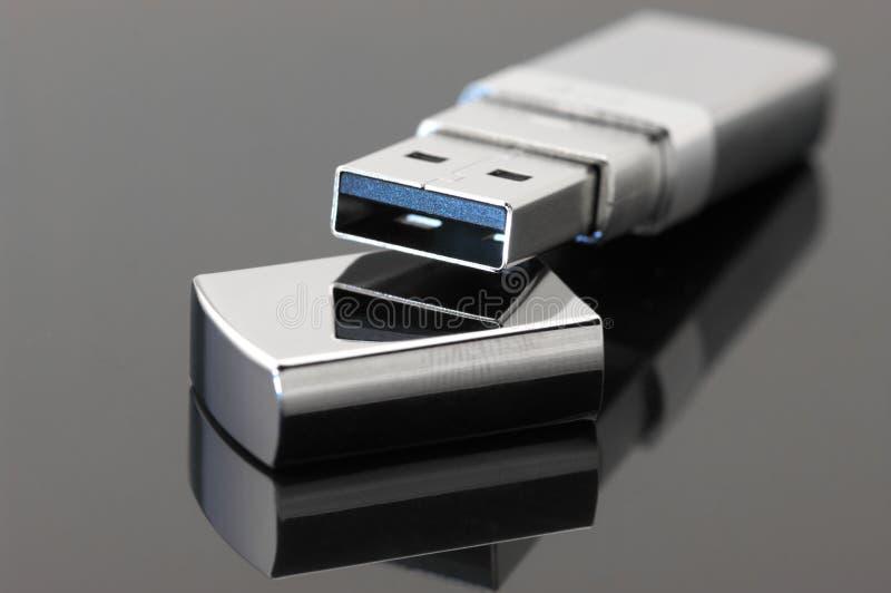 Movimentação do flash do USB fotografia de stock