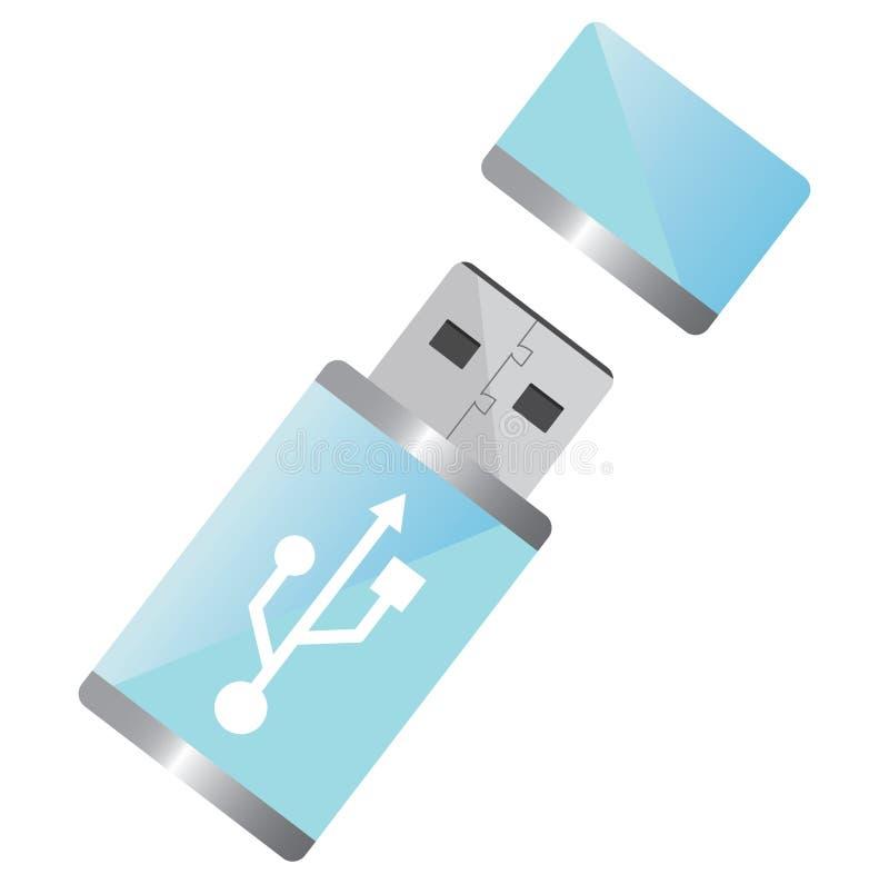 Movimentação do flash do USB ilustração do vetor