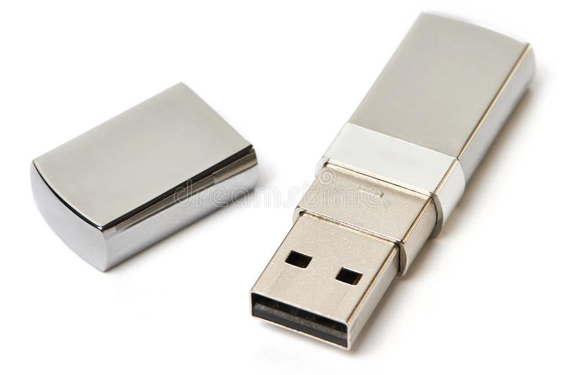 Movimentação do flash do USB isolada fotografia de stock
