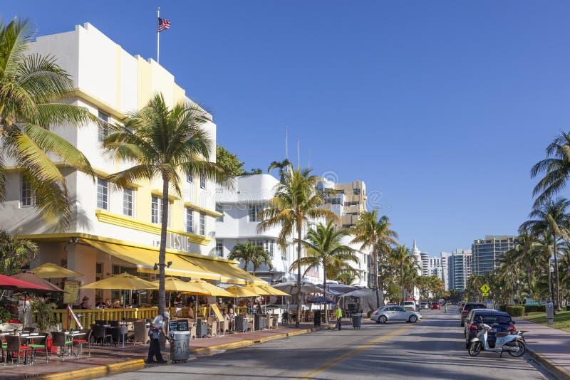 Movimentação do oceano de Miami Beach fotos de stock royalty free