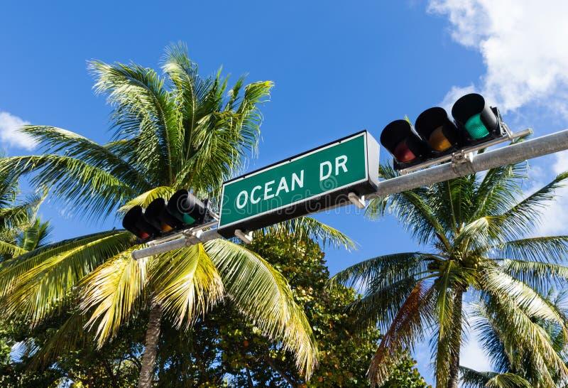 Movimentação do oceano, Miami imagem de stock royalty free