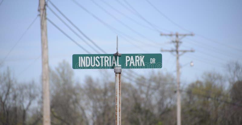 Movimentação do parque industrial fotografia de stock royalty free