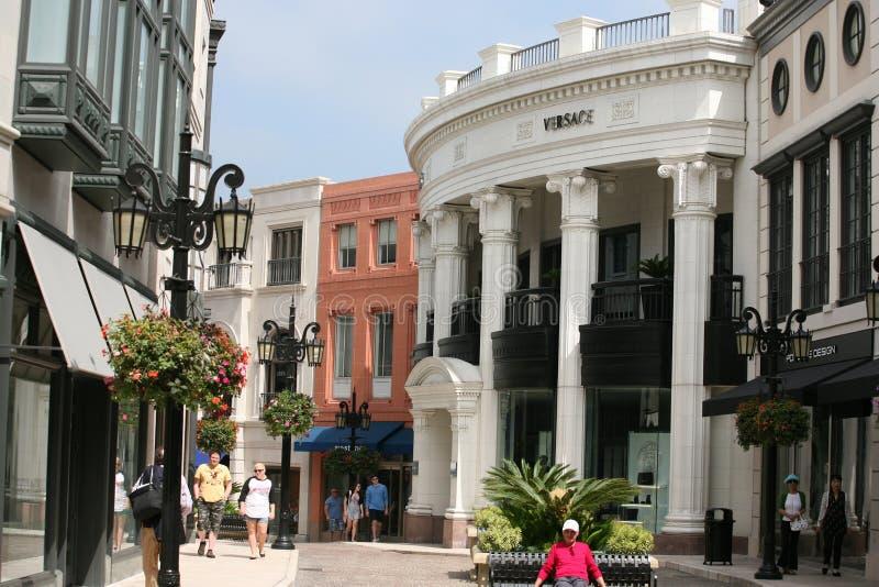 Movimentação do rodeio em Beverly Hills fotos de stock royalty free