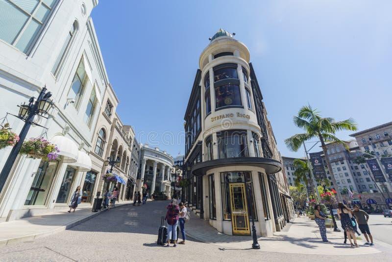 Movimentação do rodeio em Beverly Hills imagens de stock royalty free