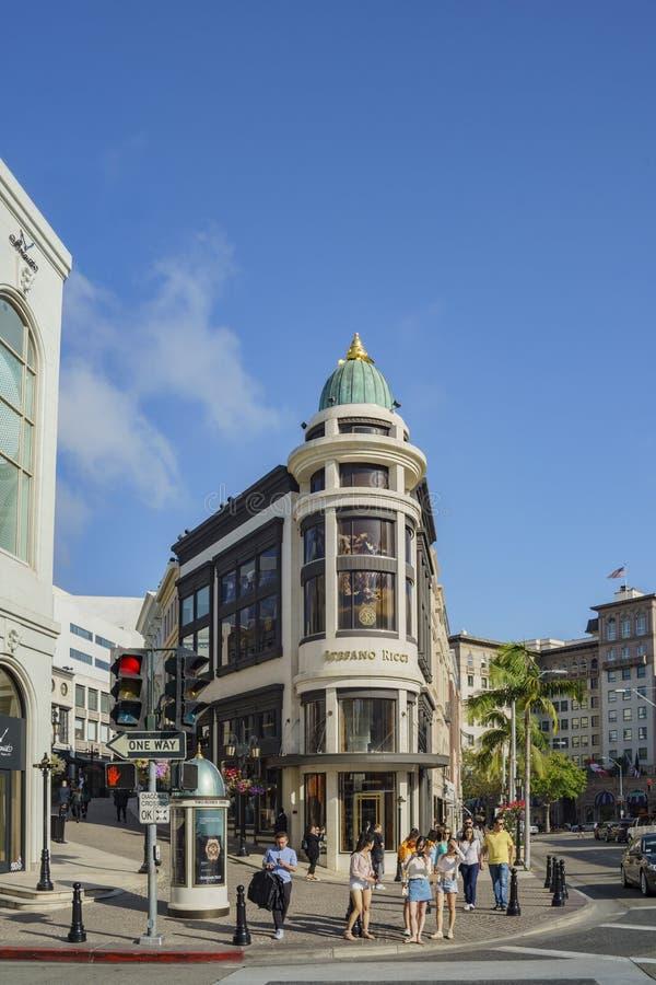 Movimentação do rodeio em Beverly Hills fotografia de stock