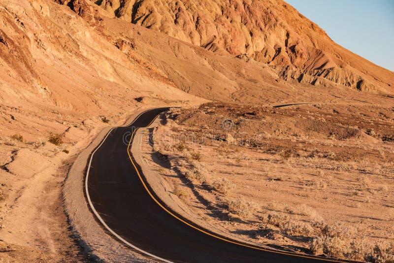 Movimentação do ` s do artista no Vale da Morte imagens de stock
