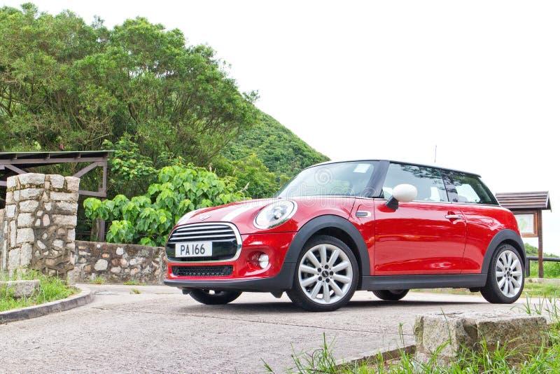 Movimentação do teste de Mini Cooper em Hong Kong fotos de stock royalty free