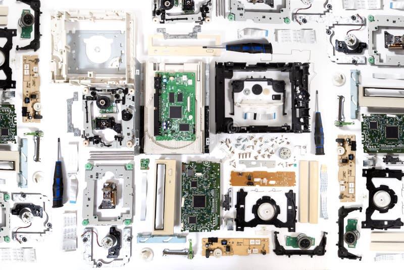 Movimentação dvd-ROM desmontada fotos de stock